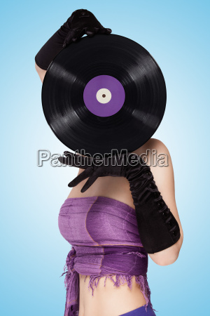 behind purple vinyl