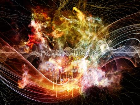 abstract visualization backdrop