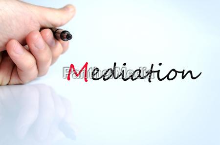 stift in der hand mediationskonzept