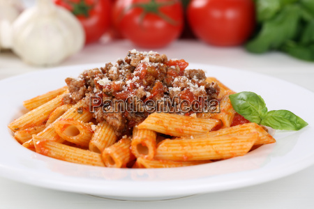 italian pasta pasta with bolognese sauce