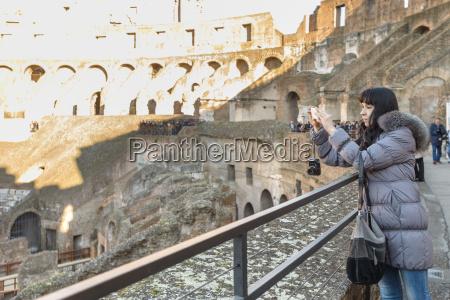 girl in coliseum