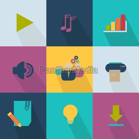 business icon stil web 20