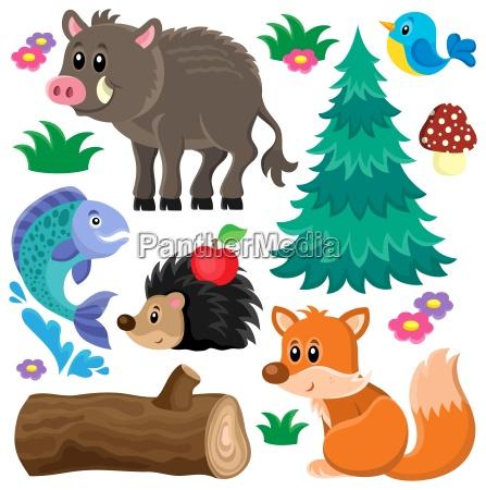 forest animals theme set 2