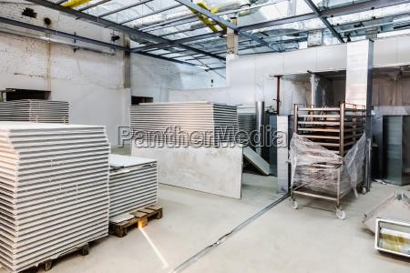 interior of industrial building under construction