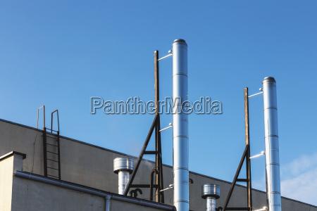 smoke pipes on rooftop