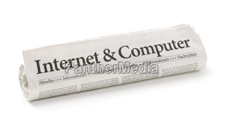 zeitungsrolle titled internet and computer