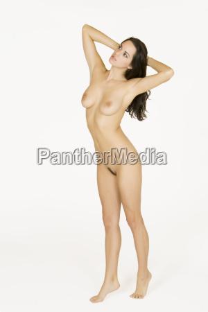 beautiful caucasian woman posing nude on