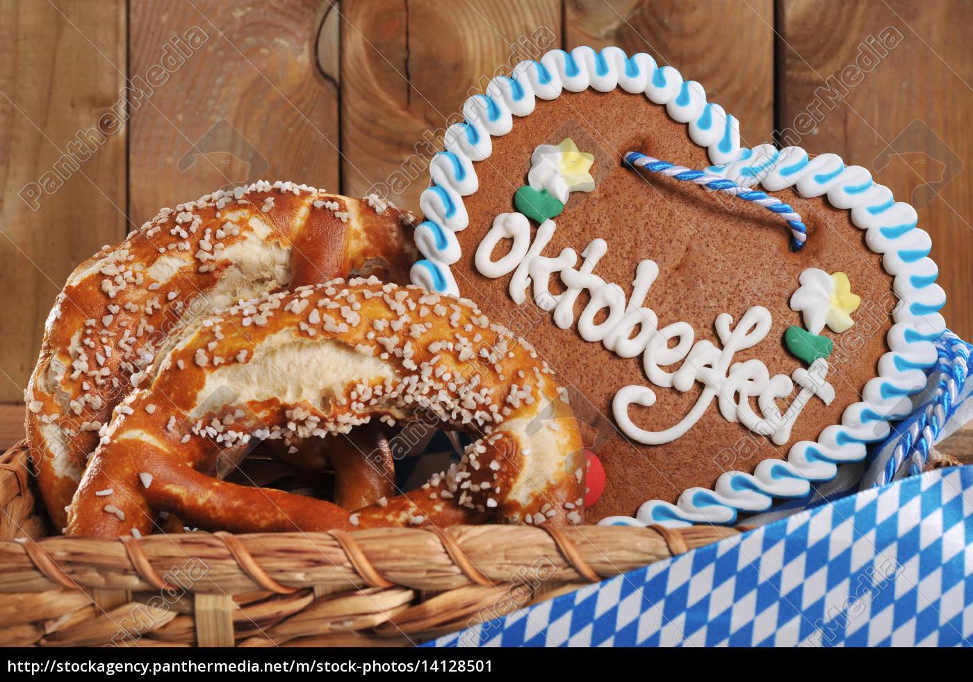 bayerisches, oktoberfest, lebkuchenherz - 14128501
