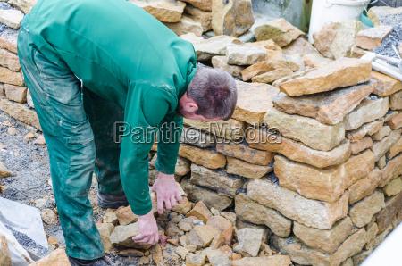 trockenmauer steinmauer