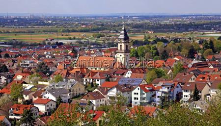 panorama von dossenheim an der bergstrasse