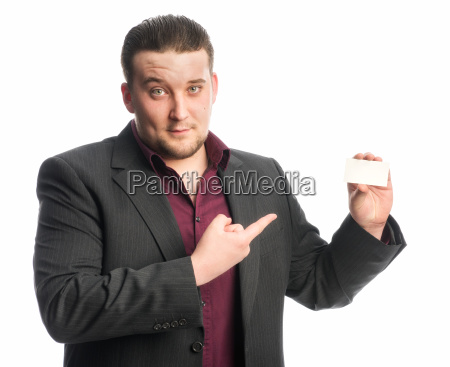 man in suit pointing at a