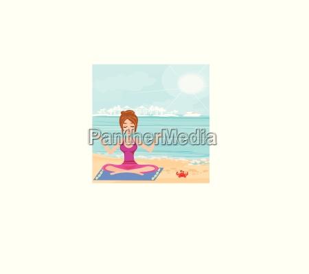 yoga on a tropical beach