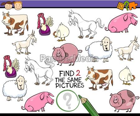 finde gleiche bild spiel cartoon