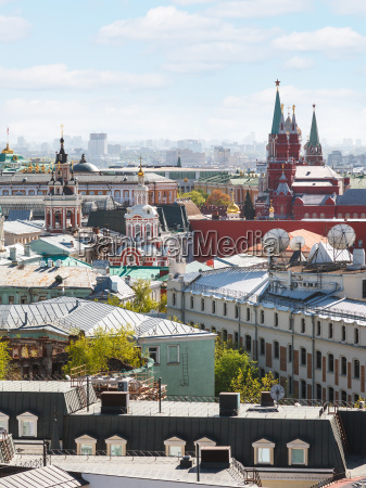 moscow city cityscape with kremlin