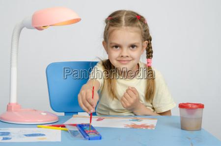 six year old girl dunks brush