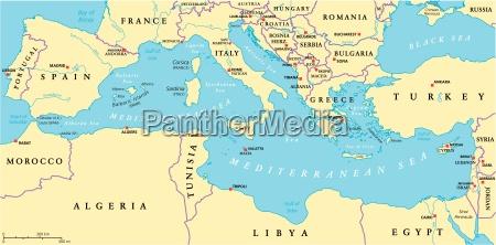 mapa politico de la region del