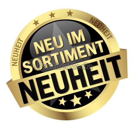 button with text neuheit neu
