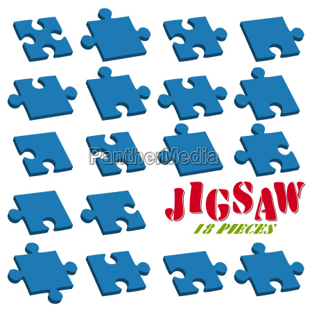 collection of puzzle parts