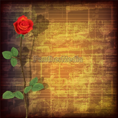abstract grunge music background with red