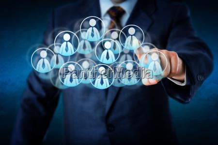 manager auswahl human resources in der