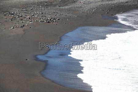 Fuerteventura, Kanarischen Inseln, Kanaren, Schwarzer Strand, Schwarzer Sand, Atlantischen Ozean - 14156089
