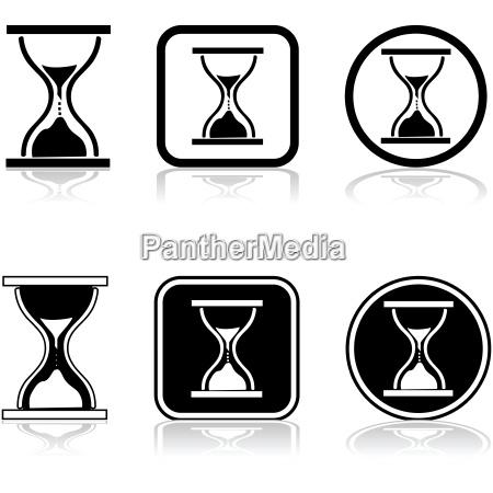 sandglass glassposheadcomp icon