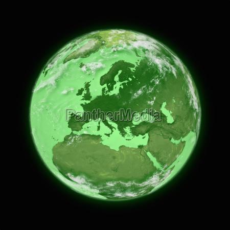 europa auf dem planeten erde
