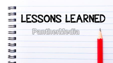 lektionen die text gelernt haben auf