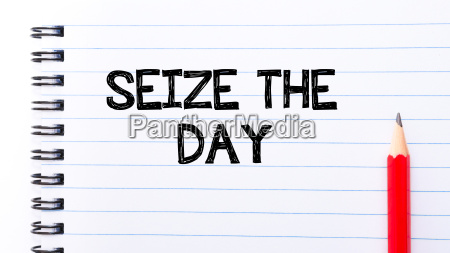 seize the day text written on