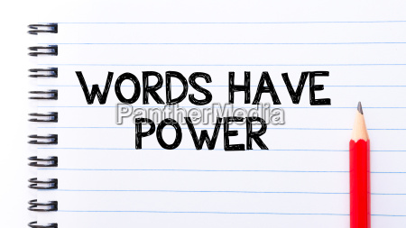 words have power text written on