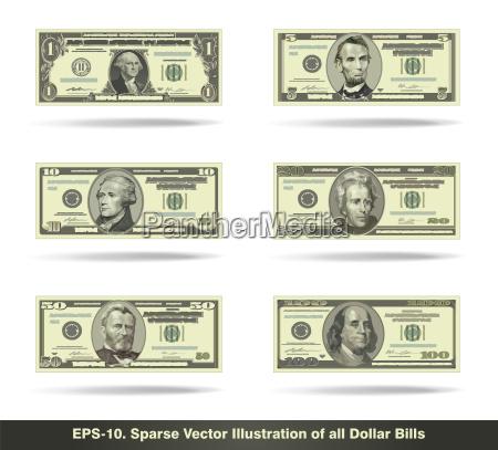 alle dollar scheine wohnung