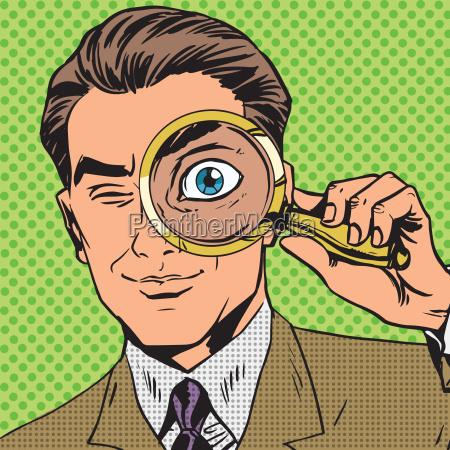 der mann ist ein detektiv durch