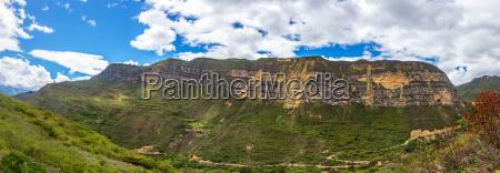 panorama landscape near chachapoyas peru