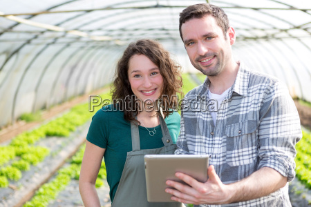 landwirte beobachten stats auf tablette