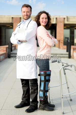 young attractive patient and a doctor