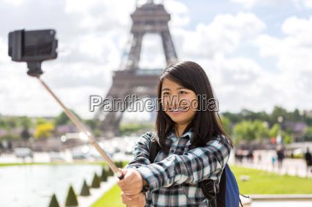 junge, attraktive, asiatische, touristen, in, paris - 14179049
