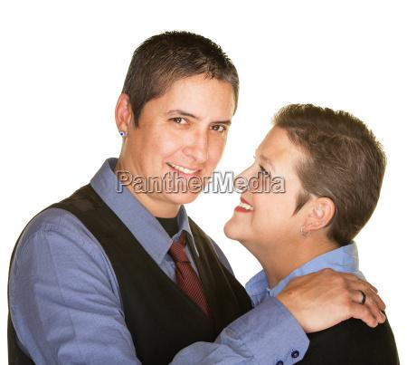 cheerful gay couple