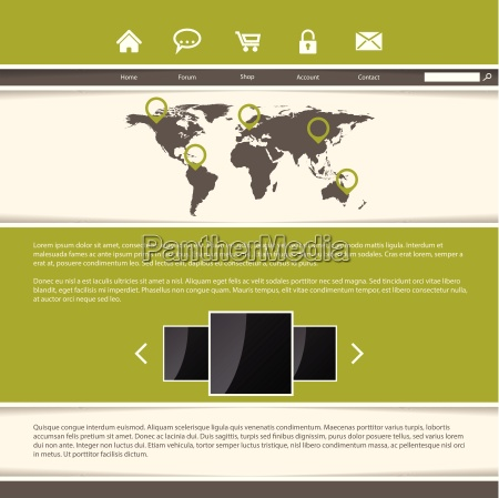classy website template design with green