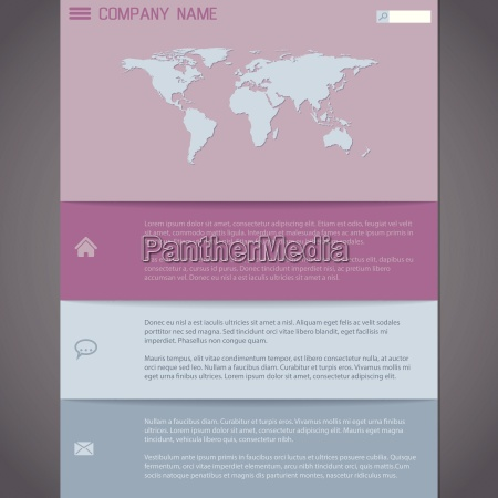 website template design in pastel colors