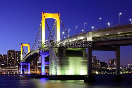 tokyo bay in der nacht