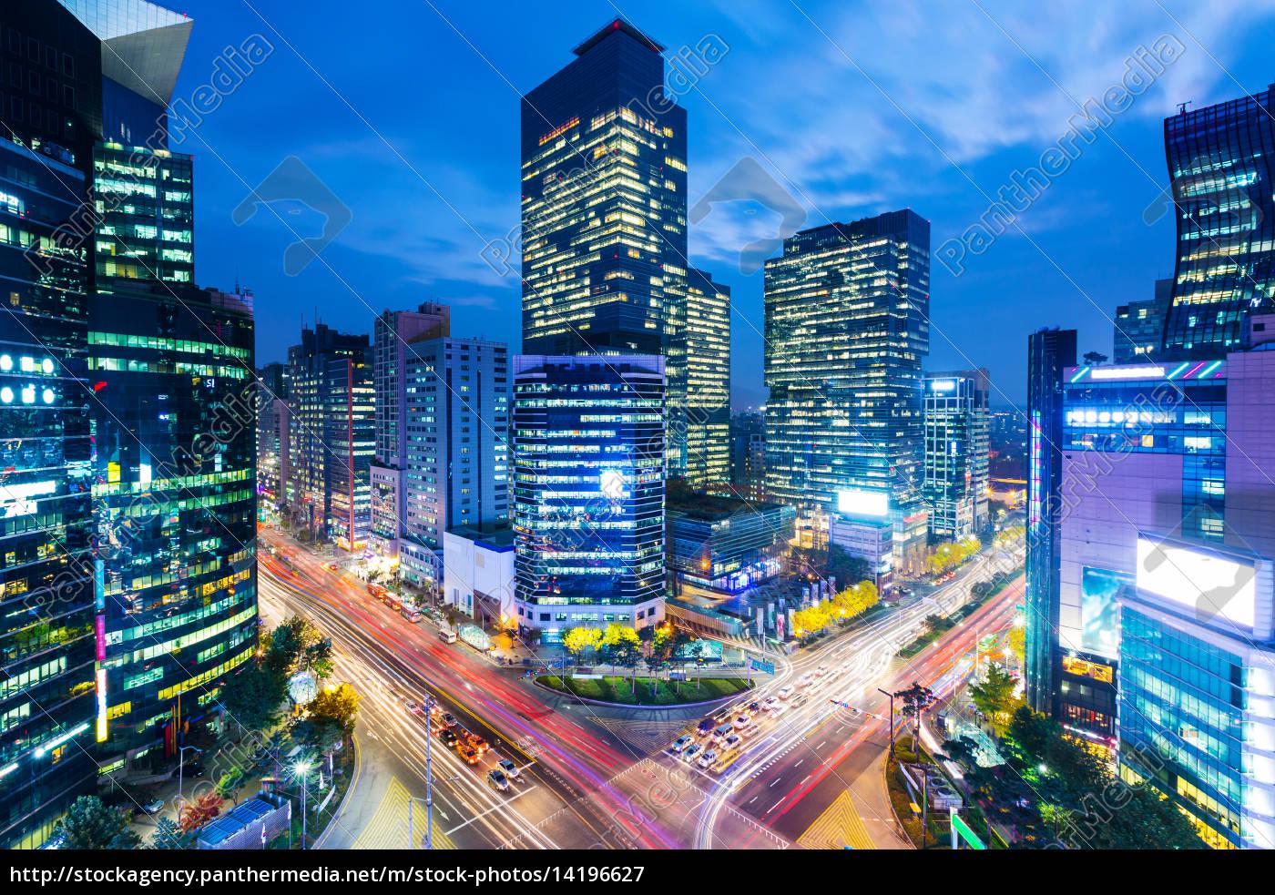 seoul-skyline, an, der, gangnam, bezirk - 14196627