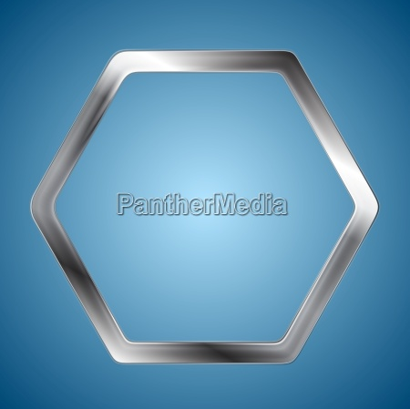 abstract metallic hexagon logo background
