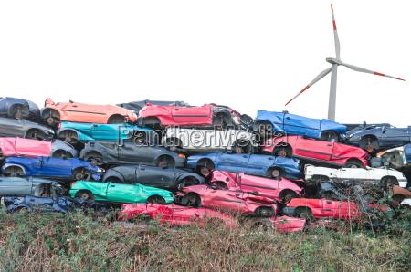 scrap vehicles wind turbine