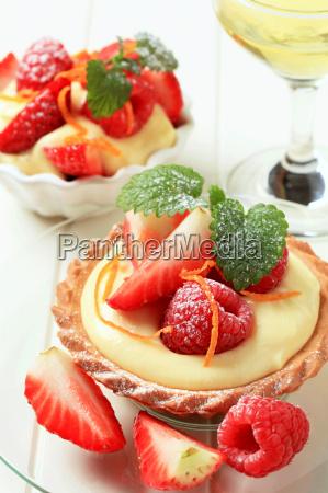 dessert kleine pudding torte mit