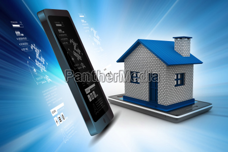 home with smart phone
