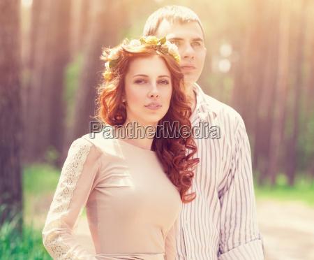 beautiful dreamy couple