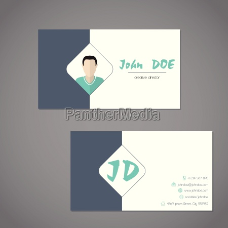 modern business card with simplistic presentation