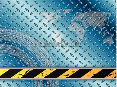 industrielle hintergrund in blau mit reifenprofilen