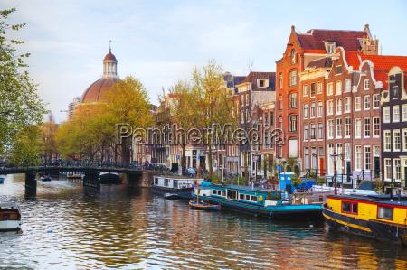 stadtansicht von amsterdam niederlande