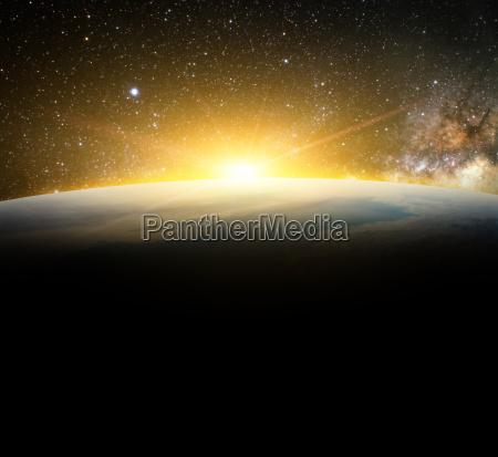 erde und sonne im galaxie raumelement